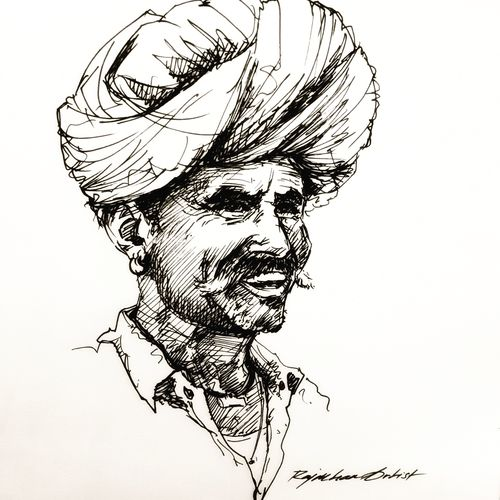 portrait , 9 x 12 inch, rajmohan ramamoorthi,9x12inch,thick paper,drawings,figurative drawings,fine art drawings,illustration drawings,paintings for dining room,paintings for living room,paintings for office,paintings for hotel,paintings for school,pen color,GAL01816130778