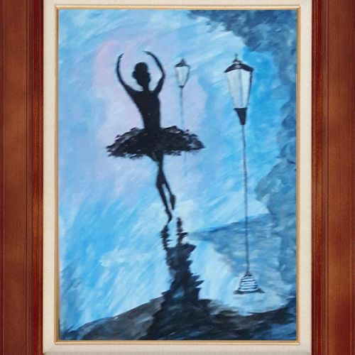 silhouette art, 13 x 19 inch, sarvary  das,13x19inch,thick paper,paintings,modern art paintings,still life paintings,abstract expressionism paintings,paintings for dining room,paintings for living room,poster color,watercolor,GAL01919030783
