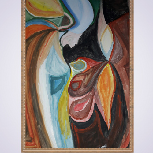 before birth, bond between mother and baby, 14 x 19 inch, sharmila  dwibedy,14x19inch,thick paper,paintings,abstract paintings,modern art paintings,conceptual paintings,expressionism paintings,realism paintings,paintings for living room,paintings for kids room,paintings for hospital,poster color,watercolor,GAL01919030795