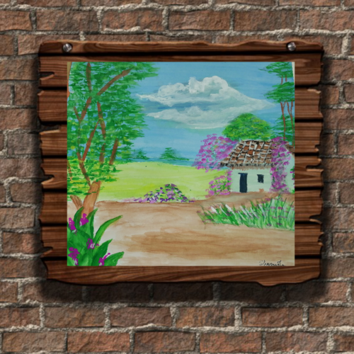 scenary , 14 x 16 inch, sharmila  dwibedy,14x16inch,thick paper,paintings,nature paintings   scenery paintings,paintings for dining room,paintings for living room,paintings for kids room,paintings for hotel,poster color,watercolor,GAL01919030802