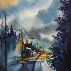 lonely road, 8 x 11 inch, shankhadeep  mondal,8x11inch,brustro watercolor paper,paintings,landscape paintings,nature paintings | scenery paintings,paintings for dining room,paintings for living room,paintings for bedroom,paintings for office,paintings for bathroom,paintings for kids room,paintings for hotel,paintings for kitchen,paintings for school,paintings for hospital,paintings for dining room,paintings for living room,paintings for bedroom,paintings for office,paintings for bathroom,paintings for kids room,paintings for hotel,paintings for kitchen,paintings for school,paintings for hospital,watercolor,GAL01403030824