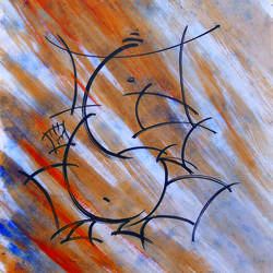 ganesha, 12 x 12 inch, sundarakannan srinivasan,12x12inch,thick paper,paintings,abstract paintings,figurative paintings,modern art paintings,religious paintings,ganesha paintings | lord ganesh paintings,paintings for dining room,paintings for living room,paintings for office,paintings for hotel,paintings for school,paintings for hospital,acrylic color,enamel color,mixed media,GAL01926430842