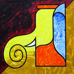 ganesha, 12 x 12 inch, sundarakannan srinivasan,12x12inch,thick paper,paintings,abstract paintings,figurative paintings,modern art paintings,religious paintings,ganesha paintings | lord ganesh paintings,paintings for dining room,paintings for living room,paintings for office,paintings for hotel,paintings for school,paintings for hospital,acrylic color,enamel color,mixed media,poster color,GAL01926430846