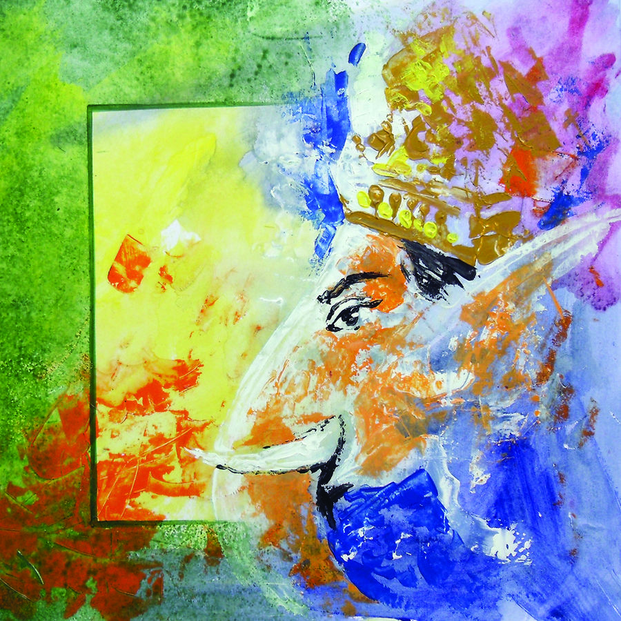 ganesha, 12 x 12 inch, kanna achariya,12x12inch,thick paper,paintings,abstract paintings,figurative paintings,modern art paintings,religious paintings,ganesha paintings | lord ganesh paintings,animal paintings,elephant paintings,paintings for dining room,paintings for living room,paintings for office,paintings for hotel,paintings for school,paintings for hospital,acrylic color,enamel color,mixed media,poster color,watercolor,GAL01926430863