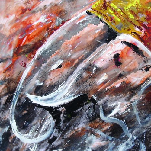 ganesha, 12 x 12 inch, kanna achariya,12x12inch,thick paper,paintings,abstract paintings,figurative paintings,modern art paintings,religious paintings,ganesha paintings | lord ganesh paintings,animal paintings,elephant paintings,paintings for dining room,paintings for living room,paintings for office,paintings for hotel,paintings for school,paintings for hospital,acrylic color,enamel color,mixed media,poster color,watercolor,GAL01926430864