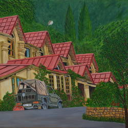 holiday in nainital ii, 40 x 30 inch, ajay harit,40x30inch,canvas,paintings,landscape paintings,nature paintings | scenery paintings,realism paintings,realistic paintings,paintings for dining room,paintings for living room,paintings for bedroom,paintings for office,paintings for hotel,paintings for school,paintings for hospital,oil color,GAL0199830870