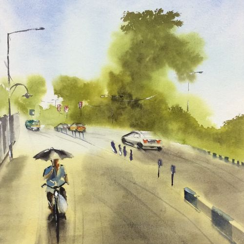 original watercolour painting , a unique gift for all occassion, 13 x 21 inch, dipankar  biswas,13x21inch,handmade paper,cityscape paintings,landscape paintings,nature paintings | scenery paintings,paintings for dining room,paintings for bedroom,paintings for office,paintings for hotel,paintings for dining room,paintings for bedroom,paintings for office,paintings for hotel,watercolor,paper,GAL0293230871