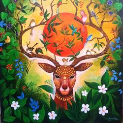 love on nature, 36 x 42 inch, arjun das,36x42inch,canvas,paintings,nature paintings | scenery paintings,animal paintings,contemporary paintings,love paintings,paintings for dining room,paintings for living room,paintings for bedroom,paintings for office,paintings for hotel,paintings for hospital,paintings for dining room,paintings for living room,paintings for bedroom,paintings for office,paintings for hotel,paintings for hospital,acrylic color,GAL011230880
