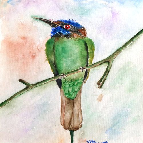 watercolor painting, 10 x 14 inch, snehalatha e c,10x14inch,thick paper,paintings,wildlife paintings,nature paintings | scenery paintings,paintings for living room,paintings for kids room,paintings for hotel,paintings for school,watercolor,GAL01925830897