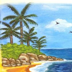 serene beach view, 20 x 24 inch, ananya amara,20x24inch,canvas,paintings,nature paintings | scenery paintings,paintings for living room,paintings for bedroom,paintings for office,paintings for kids room,paintings for hotel,paintings for school,paintings for living room,paintings for bedroom,paintings for office,paintings for kids room,paintings for school,acrylic color,GAL01861630910