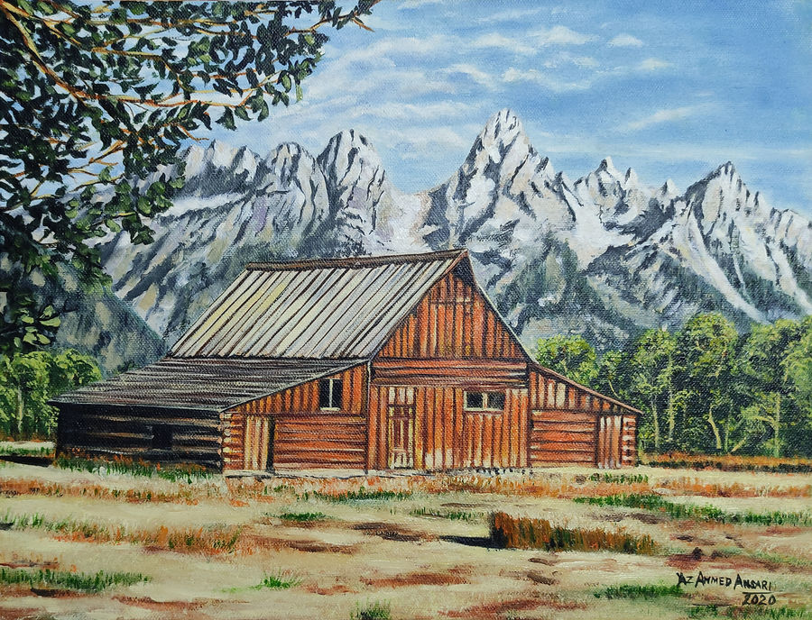 farm house, 16 x 12 inch, yaz ahmed ansari,16x12inch,canvas board,landscape paintings,nature paintings   scenery paintings,oil color,GAL0426130920