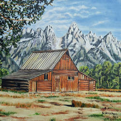 farm house, 16 x 12 inch, yaz ahmed ansari,16x12inch,canvas board,landscape paintings,nature paintings | scenery paintings,oil color,GAL0426130920