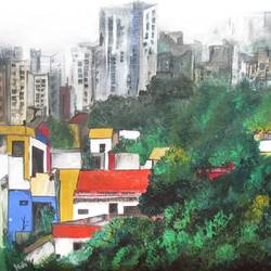 lost, 24 x 18 inch, nidhi  tripathy,24x18inch,canvas,cityscape paintings,impressionist paintings,acrylic color,GAL01934230936