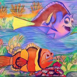 under water life, 8 x 11 inch, tan guj,8x11inch,drawing paper,drawings,kids drawings,paintings for dining room,paintings for living room,paintings for bedroom,paintings for office,paintings for bathroom,paintings for kids room,paintings for hotel,paintings for kitchen,paintings for school,paintings for hospital,pastel color,pencil color,paper,GAL01932530939
