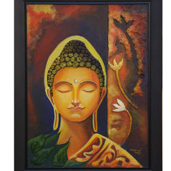 buddha, 24 x 18 inch, sankar c,24x18inch,canvas board,paintings,buddha paintings,paintings for dining room,paintings for living room,paintings for bedroom,paintings for office,paintings for kids room,paintings for hotel,paintings for kitchen,paintings for school,paintings for hospital,paintings for dining room,paintings for living room,paintings for bedroom,paintings for office,paintings for kids room,paintings for hotel,paintings for kitchen,paintings for school,paintings for hospital,acrylic color,GAL01935030955