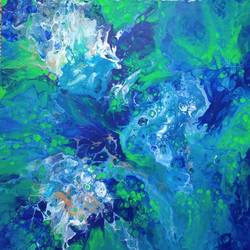 atlantis, 12 x 16 inch, irene james,12x16inch,canvas,paintings,abstract paintings,paintings for dining room,paintings for living room,paintings for bedroom,paintings for office,paintings for bathroom,paintings for kids room,paintings for hotel,paintings for kitchen,paintings for school,paintings for hospital,acrylic color,GAL01101930968