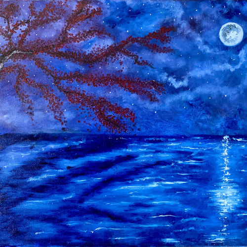 the lake tree, 20 x 16 inch, sneha singh,20x16inch,canvas,paintings,landscape paintings,expressionism paintings,paintings for dining room,paintings for living room,paintings for bedroom,paintings for office,paintings for bathroom,paintings for hotel,paintings for kitchen,paintings for school,paintings for hospital,oil color,GAL01445330992