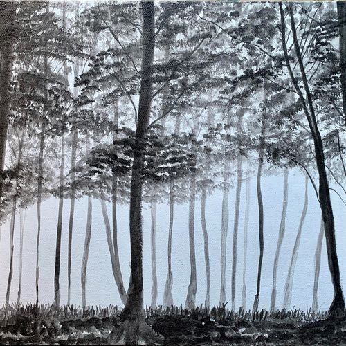 the forest, 18 x 14 inch, sneha singh,18x14inch,canvas,paintings,landscape paintings,expressionism paintings,paintings for dining room,paintings for living room,paintings for bedroom,paintings for office,paintings for bathroom,paintings for kids room,paintings for hotel,paintings for kitchen,paintings for school,paintings for hospital,acrylic color,GAL01445330993