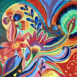 colourful  tapestry, 22 x 15 inch, sneha singh,22x15inch,canvas,paintings,abstract paintings,flower paintings,modern art paintings,expressionism paintings,paintings for dining room,paintings for living room,paintings for bedroom,paintings for office,paintings for bathroom,paintings for kids room,paintings for hotel,paintings for kitchen,paintings for school,paintings for hospital,acrylic color,GAL01445330995