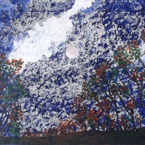 the night scene, 24 x 18 inch, rahul kumawat,abstract paintings,paintings for living room,canvas,acrylic color,24x18inch,GAL0126310