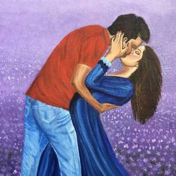 for the love of love , 24 x 30 inch, preetha nair,24x30inch,canvas,paintings,figurative paintings,conceptual paintings,love paintings,paintings for bedroom,acrylic color,GAL01938531002