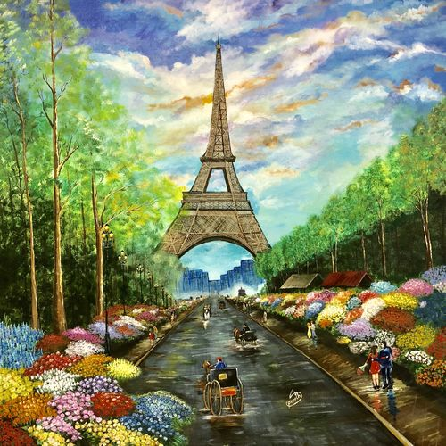 city of love, 30 x 30 inch, preetha nair,30x30inch,canvas,paintings,cityscape paintings,landscape paintings,nature paintings | scenery paintings,surrealism paintings,paintings for dining room,paintings for living room,paintings for bedroom,paintings for office,paintings for hotel,paintings for school,paintings for hospital,paintings for dining room,paintings for living room,paintings for bedroom,paintings for office,paintings for hotel,paintings for school,paintings for hospital,acrylic color,GAL01938531007