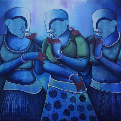 conversation 31, 48 x 36 inch, anupam  pal,48x36inch,canvas,paintings,abstract paintings,buddha paintings,wildlife paintings,figurative paintings,flower paintings,folk art paintings,foil paintings,cityscape paintings,landscape paintings,modern art paintings,multi piece paintings,conceptual paintings,religious paintings,still life paintings,portrait paintings,nature paintings | scenery paintings,tanjore paintings,abstract expressionism paintings,art deco paintings,cubism paintings,dada paintings,expressionism paintings,illustration paintings,impressionist paintings,minimalist paintings,photorealism paintings,photorealism,pop art paintings,portraiture,realism paintings,street art,surrealism paintings,ganesha paintings | lord ganesh paintings,animal paintings,radha krishna paintings,contemporary paintings,realistic paintings,love paintings,horse paintings,mother teresa paintings,dog painting,elephant paintings,water fountain paintings,baby paintings,children paintings,kids paintings,islamic calligraphy paintings,madhubani paintings | madhubani art,warli paintings,lord shiva paintings,kalighat painting,phad painting,kalamkari painting,miniature painting.,gond painting.,kerala murals painting,serigraph paintings,paintings for dining room,paintings for living room,paintings for bedroom,paintings for office,paintings for bathroom,paintings for kids room,paintings for hotel,paintings for kitchen,paintings for school,paintings for hospital,acrylic color,GAL08231009