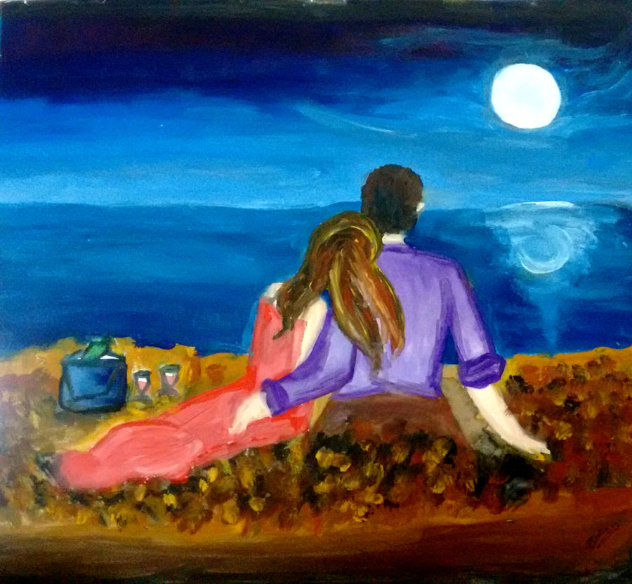 date at the beach, 12 x 11 inch, pooja italia,love paintings,paintings for bedroom,drawing paper,watercolor,12x11inch,GAL09613101heart,family,caring,happiness,forever,happy,trust,passion,romance,sweet,kiss,love,hugs,warm,fun,kisses,joy,friendship,marriage,chocolate,husband,wife,forever,caring,couple,sweetheart