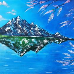 beautiful nature, 34 x 24 inch, srinu badri,34x24inch,canvas,paintings,modern art paintings,nature paintings | scenery paintings,paintings for living room,paintings for bedroom,paintings for office,paintings for hotel,acrylic color,GAL01289931041