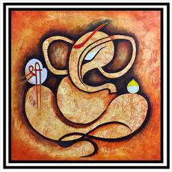 shree ganesh, 34 x 34 inch, akash bhisikar,34x34inch,canvas,paintings,abstract paintings,figurative paintings,religious paintings,ganesha paintings | lord ganesh paintings,paintings for dining room,paintings for living room,paintings for bedroom,paintings for office,paintings for bathroom,paintings for kids room,paintings for hotel,paintings for kitchen,paintings for school,paintings for hospital,acrylic color,GAL01828631051