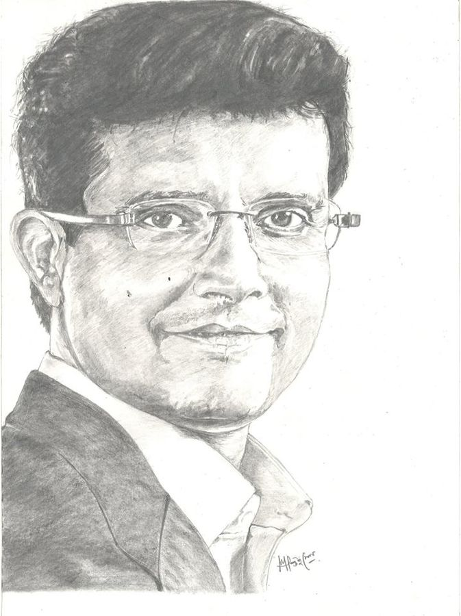 portrait of sourav ganguly, 12 x 14 inch, santanu sen,12x14inch,paper,paintings for dining room,paintings for living room,paintings for bedroom,paintings for office,paintings for hotel,portrait drawings,paintings for dining room,paintings for living room,paintings for bedroom,paintings for office,paintings for hotel,graphite pencil,GAL0193931057