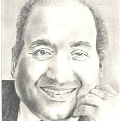 portrait of md rafi, 12 x 14 inch, santanu sen,12x14inch,paper,drawings,portrait drawings,paintings for dining room,paintings for living room,paintings for office,paintings for kids room,paintings for hotel,paintings for school,paintings for hospital,graphite pencil,GAL0193931060