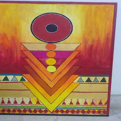 mantra and chakra for meditation, 18 x 24 inch, manisha d,18x24inch,canvas board,paintings,modern art paintings,paintings for living room,paintings for hospital,acrylic color,oil color,GAL01944431099