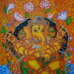 lord ganapathy, 18 x 24 inch, akila devi,18x24inch,canvas,paintings,religious paintings,ganesha paintings | lord ganesh paintings,kerala murals painting,paintings for dining room,paintings for living room,paintings for office,paintings for kids room,paintings for hotel,paintings for kitchen,paintings for school,paintings for hospital,paintings for dining room,paintings for living room,paintings for office,paintings for kids room,paintings for hotel,paintings for kitchen,paintings for school,paintings for hospital,acrylic color,oil color,GAL01944831101
