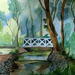 lone bridge, 16 x 11 inch, akila devi,16x11inch,thick paper,paintings,landscape paintings,nature paintings | scenery paintings,paintings for dining room,paintings for living room,paintings for bedroom,paintings for office,paintings for bathroom,paintings for kids room,paintings for hotel,paintings for kitchen,paintings for school,paintings for hospital,paintings for dining room,paintings for living room,paintings for bedroom,paintings for office,paintings for bathroom,paintings for kids room,paintings for hotel,paintings for kitchen,paintings for school,paintings for hospital,watercolor,paper,GAL01944831125