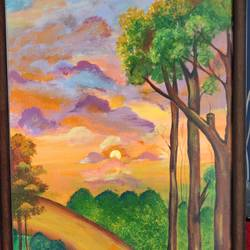 nature walk, 18 x 32 inch, vaishali solanki,18x32inch,canvas board,paintings,landscape paintings,nature paintings | scenery paintings,paintings for living room,paintings for office,paintings for hotel,paintings for living room,paintings for office,paintings for hotel,acrylic color,GAL01946931139