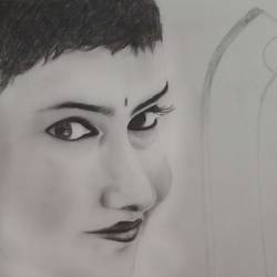 realistic sketch, 8 x 12 inch, madhurima gorai,8x12inch,drawing paper,drawings,portrait drawings,realism drawings,paintings for dining room,paintings for living room,paintings for bedroom,pencil color,paper,GAL01947231143