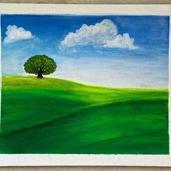 a tree in the meadows, 12 x 10 inch, praveena shree egambaram,12x10inch,canvas board,paintings,abstract paintings,wildlife paintings,figurative paintings,landscape paintings,conceptual paintings,still life paintings,nature paintings | scenery paintings,photorealism,realism paintings,realistic paintings,paintings for dining room,paintings for living room,paintings for bedroom,paintings for office,paintings for kids room,paintings for hotel,paintings for kitchen,paintings for school,paintings for hospital,acrylic color,GAL0681431147