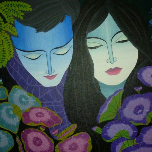 calm fragrance- love, 24 x 16 inch, priyanka dubey  tiwari,love paintings,paintings for bedroom,canvas board,acrylic color,24x16inch,GAL012073116heart,family,caring,happiness,forever,happy,trust,passion,romance,sweet,kiss,love,hugs,warm,fun,kisses,joy,friendship,marriage,chocolate,husband,wife,forever,caring,couple,sweetheart