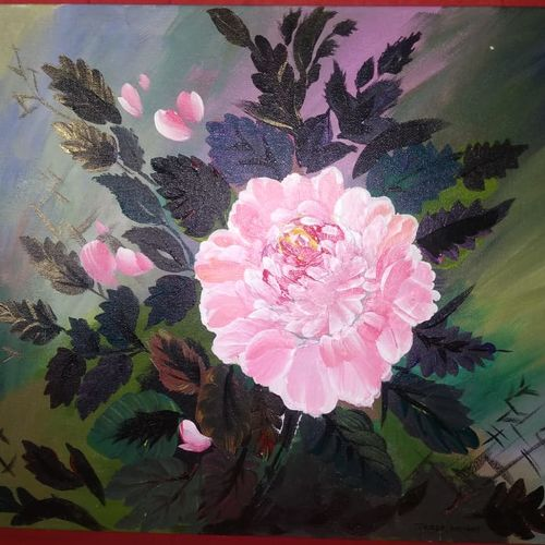 blooming, 18 x 14 inch, tresa  antony,18x14inch,canvas,paintings,flower paintings,acrylic color,GAL01692731168