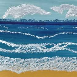 beach , 16 x 12 inch, gitika singh,16x12inch,canvas,paintings,landscape paintings,nature paintings | scenery paintings,paintings for dining room,paintings for living room,paintings for bedroom,paintings for office,paintings for bathroom,paintings for kids room,paintings for hotel,paintings for kitchen,paintings for school,paintings for hospital,acrylic color,GAL01865431174