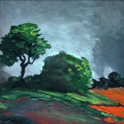 abstract landscape-2, 10 x 10 inch, vignesh kumar,abstract paintings,paintings for living room,landscape paintings,nature paintings,canvas,acrylic color,10x10inch,GAL02503118Nature,environment,Beauty,scenery,greenery