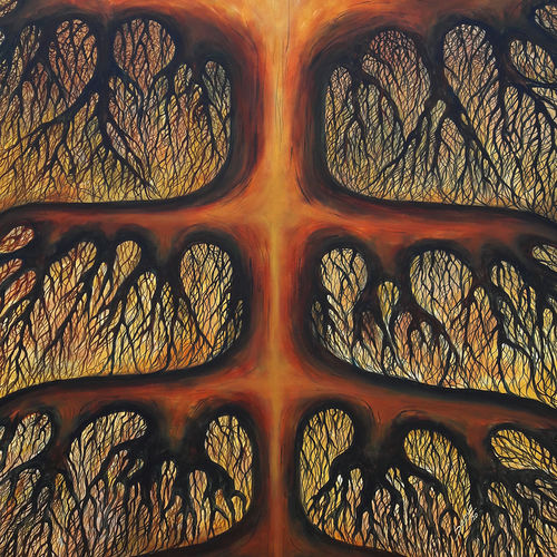 roots, 36 x 45 inch, seby augustine,36x45inch,canvas,paintings,conceptual paintings,surrealism paintings,paintings for dining room,paintings for living room,paintings for office,paintings for hotel,paintings for school,paintings for hospital,acrylic color,GAL015031182