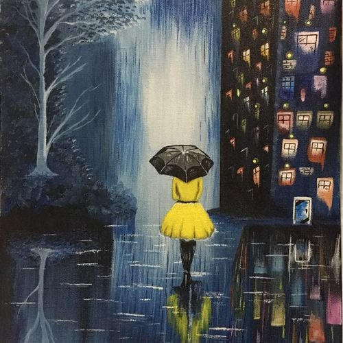 girl with an umbrella , 12 x 16 inch, lisa serene ,12x16inch,canvas,paintings,landscape paintings,expressionism paintings,paintings for dining room,paintings for living room,paintings for bedroom,paintings for office,paintings for bathroom,paintings for hotel,paintings for kitchen,paintings for dining room,paintings for living room,paintings for bedroom,paintings for office,paintings for bathroom,paintings for hotel,paintings for kitchen,acrylic color,GAL01951231190