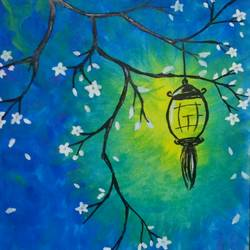 lantern of hope, 6 x 8 inch, tahoora ansari,6x8inch,cartridge paper,paintings,abstract paintings,nature paintings | scenery paintings,paintings for dining room,paintings for living room,paintings for bedroom,paintings for office,paintings for hotel,watercolor,GAL01948231208