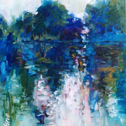 river view, 16 x 20 inch, krantishil kirve,16x20inch,canvas,landscape paintings,nature paintings | scenery paintings,abstract expressionism paintings,impressionist paintings,paintings for living room,paintings for bedroom,paintings for hotel,paintings for school,paintings for hospital,paintings for living room,paintings for bedroom,paintings for hotel,paintings for school,paintings for hospital,acrylic color,GAL01952331209