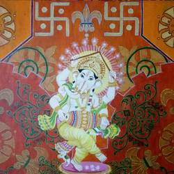 omkara- power, 24 x 18 inch, priyanka dubey  tiwari,religious paintings,paintings for living room,canvas board,acrylic color,24x18inch,GAL012073122