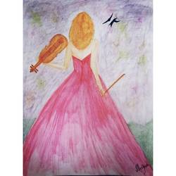 the girl, 12 x 17 inch, shipra raman,12x17inch,drawing paper,drawings,figurative drawings,fine art drawings,paintings for dining room,paintings for living room,paintings for bedroom,paintings for office,paintings for kids room,paintings for hotel,paintings for school,paintings for hospital,pencil color,watercolor,GAL01897331238