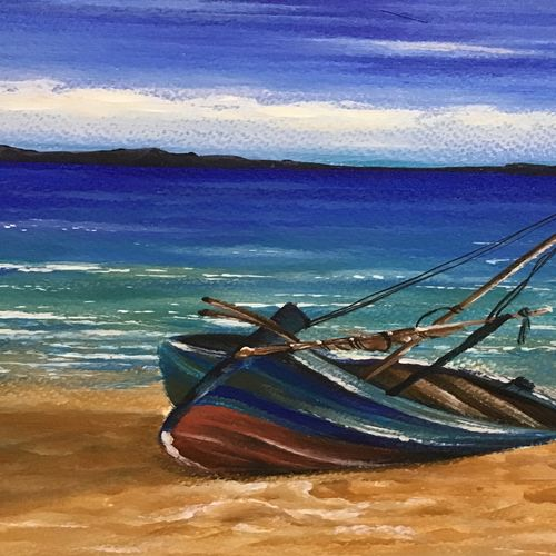 sea scape , 8 x 12 inch, kumar ranadive,8x12inch,thick paper,nature paintings | scenery paintings,paintings for living room,paintings for living room,acrylic color,GAL01956931245