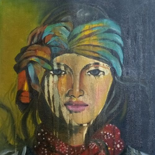 gypsy woman, 15 x 18 inch, sonu chopra,15x18inch,canvas,abstract paintings,figurative paintings,portrait paintings,paintings for dining room,paintings for living room,paintings for bedroom,paintings for office,paintings for hotel,paintings for dining room,paintings for living room,paintings for bedroom,paintings for office,paintings for hotel,oil color,GAL0854731267